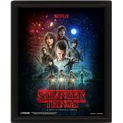 STRANGER THINGS CADRE 3D LENTICULAIRE ONE SHEET