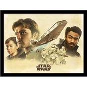 SOLO STAR WARS COLLECTOR PRINT MONTAGE 30 X 40CM