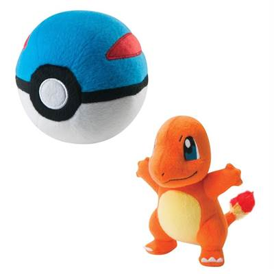 PELUCHE POKEMON SALAMECHE & SUPER BALL /4