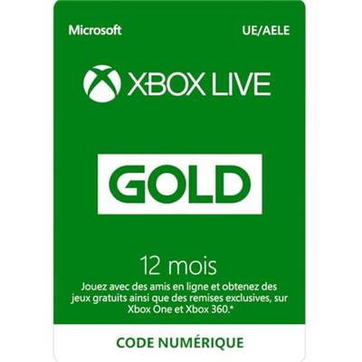 LIVE 12 MOIS /20 - XBOX ONE ESD nvelle ref