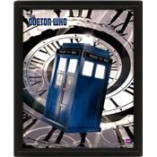DOCTOR WHO CADRE 3D LENTICULAIRE TARDIS TIME SPIRAL /2