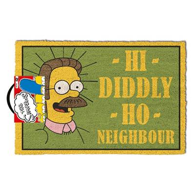 THE SIMPSONS  DOOR MAT HI DIDDLY HO NEIGHBOUR