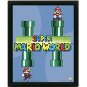 SUPER MARIO CADRE 3D LENTICULAIRE WORLD PIPES