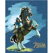 ZELDA BREATH OF WILD CADRE 3D LENTICULAIRE EPONA AND LINK