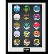 POKEMON COLLECTOR PRINT POKEBALLS /6