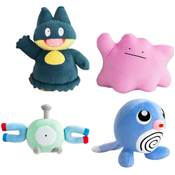 PELUCHE POKEMON ASSORTIMENT MAGNETI PTITARD GOINFREX ET METAMORPH /6