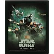 STAR WARS CADRE 3D LENTICULAIRE ROGUE ONE REBEL SOLDIER