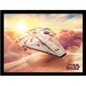 SOLO STAR WARS COLLECTOR PRINT MILLENIUM FALCON 30 X 40CM