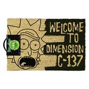 RICK AND MORTY DIMENSION DOOR MAT C-137 BLACK