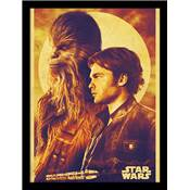 SOLO STAR WARS COLLECTOR PRINT HAN AND CHEWIE 30 X 40CM