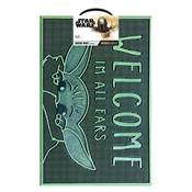 STAR WARS THE MANDALORIAN WELCOME I'M ALL EARS RUBBER DOORMAT