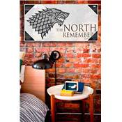 GAME OF THRONES THE NORTH REMEMBERS TEMPERED GLASS POSTER