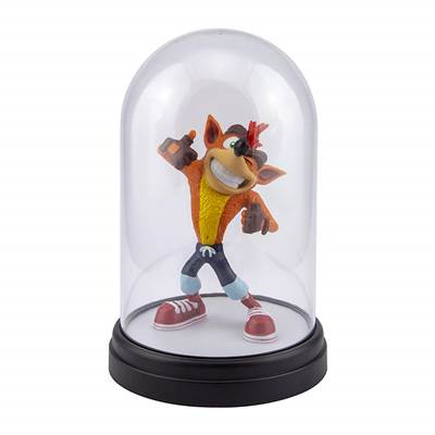 CRASH BANDICOOT LAMPE SOUS CLOCHE COLLECTOR CRASH BANDICOOT V2