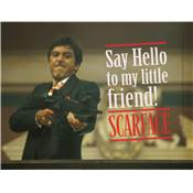 SCARFACE SAY HELLO GLASS POSTER 40X30 CM