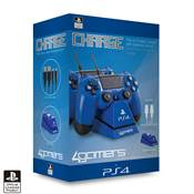 DUAL CHARGE N STAND BLUE 4G-4182BLU /4/40 - PS4