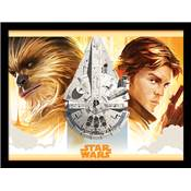 SOLO STAR WARS COLLECTOR PRINT FALCON LEGACY 30 X 40CM