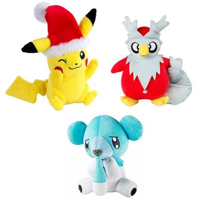 PELUCHE POKEMON ASSORTIMENT NOEL /6