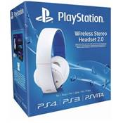 CASQUE STEREO WIRELESS 2.0 SONY BLANC /6 - PS4