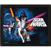 STAR WARS CADRE 3D LENTICULAIRE A NEW HOPE /2