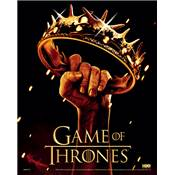 GAME OF THRONES CADRE 3D LENTICULAIRE CROWN