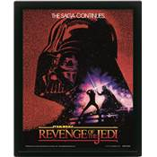 STAR WARS CADRE 3D LENTICULAIRE REVENGE OF THE JEDI ONE SHEET