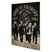 SONS OF ANARCHY WOOD ART REAPER CREW