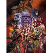 AVENGERS INFINITY WAR TOILE GAUNTLET CHARACTER COLLAGE