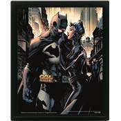 BATMAN CADRE 3D LENTICULAIRE BATMAN AND CATWOMAN