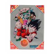 DRAGON BALL CHARACTERS GLASS POSTER DRAGON BALL 30X40 CM