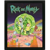 RICK AND MORTY CADRE 3D LENTICULAIRE PORTAL