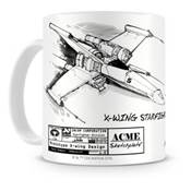STAR WARS MUG X WING WHITE CERAMIC