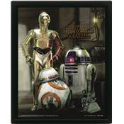 STAR WARS CADRE 3D LENTICULAIRE THE FORCE AWAKENS DROIDS