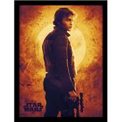 SOLO STAR WARS COLLECTOR PRINT SUNSET 30 X 40CM