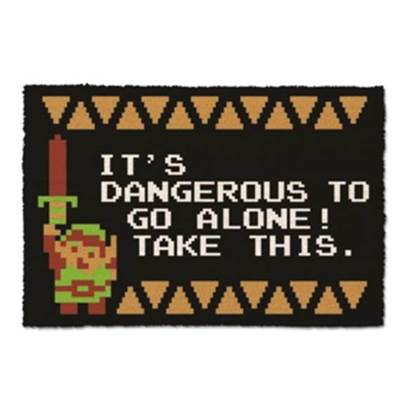 ZELDA DOOR MAT DANGEROUS