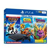CONSOLE PS4 1To SLIM F + R&C + CTR  + SPYRO - PS4