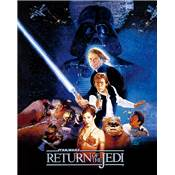 STAR WARS RETURN JEDI CADRE 3D LENTICULAIRE ONE SHEET