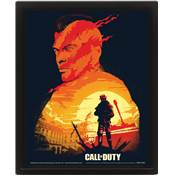 CALL OF DUTY CADRE 3D LENTICULAIRE SUNSET