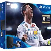CONSOLE PS4 1To SLIM + E FIFA 18 + PS+14J / 3 - PS4 rd