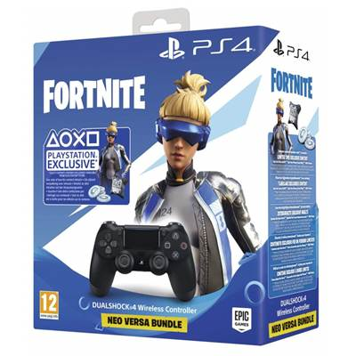 MANETTE DUAL SHOCK NOIRE V2 + FORTNITE - PS4