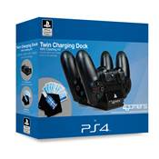 TWIN CHARGING DOCK & CLEANING KIT 4G-4391BLKEU /25 - PS4