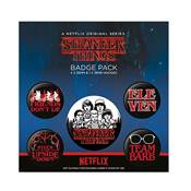 STRANGER THINGS SET DE BADGES CHARACTERS