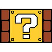 SUPER MARIO DOOR MAT QUESTION MARK BLOCK