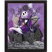 NIGHTMARE BEFORE CHRISTMAS CADRE 3D-GRAVEYARD